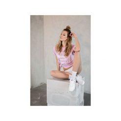 TSHIRT FASHION. Fioletowe koszulki polo marki KIPSTA, m, z elastanu, z długim rękawem, na fitness i siłownię. Za 74,93 zł.