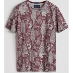 T-shirt z leśnym printem - Bordowy. Białe t-shirty męskie marki Reserved, l. Za 49,99 zł.