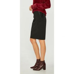 Morgan - Spódnica. Szare spódniczki ołówkowe marki Morgan, z elastanu, z podwyższonym stanem, midi. W wyprzedaży za 219,90 zł.