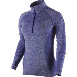Bluzy damskie: bluza do biegania damska NIKE DRI-FIT KNIT 1/2 ZIP / 719469-457 – bluza do biegania damska NIKE DRI-FIT KNIT 1/2 ZIP