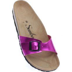 Chodaki damskie: Klapki w kolorze fioletowym