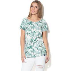 Colour Pleasure Koszulka damska CP-034  278  biało-zielona r. XL-XXL. Białe bluzki damskie Colour pleasure, xl. Za 70,35 zł.
