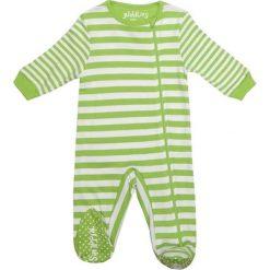 Pajacyki niemowlęce: Śpiochy w kolorze biało-zielonym