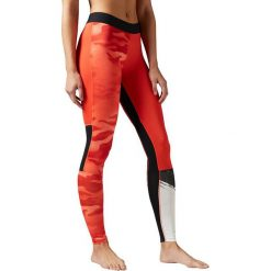 Reebok Spodnie damskie Camo Compression pomarańczowe r. XL (B45923). Spodnie dresowe damskie Reebok, xl. Za 167,25 zł.