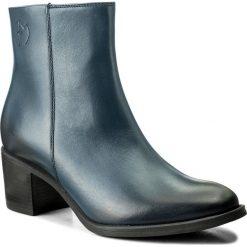 Botki EVA MINGE - Mireia 2G 17GR1372266EF 107. Niebieskie buty zimowe damskie Eva Minge, z polaru. W wyprzedaży za 299,00 zł.