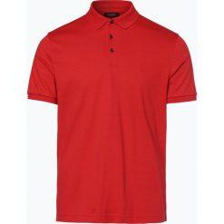 Calvin Klein - Męska koszulka polo, czerwony. Pomarańczowe koszulki polo marki Calvin Klein, l, z bawełny, z okrągłym kołnierzem. Za 199,95 zł.