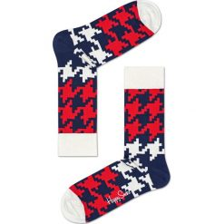 Happy Socks - Skarpety Dogtooth. Brązowe skarpetki męskie Happy Socks. W wyprzedaży za 27,90 zł.