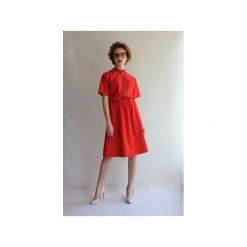 Sukienka GOOD EVENING Red Power. Czerwone sukienki balowe marki TRUE COLOR by Ann, na imprezę, l, z tkaniny, z klasycznym kołnierzykiem, z krótkim rękawem, mini. Za 450,00 zł.