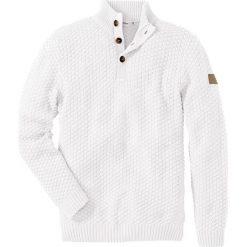 Swetry klasyczne męskie: Sweter Slim Fit bonprix biel wełny