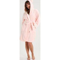 Szlafroki kimona damskie: Evans PINK AND WHITE ROBE WITH HOOD DETAIL Szlafrok pink/white