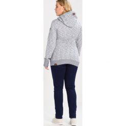 Bluzy rozpinane damskie: Ragwear Plus BEAT Bluza z kapturem indigo melange