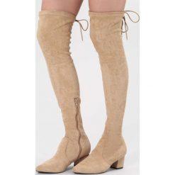 Beżowe Kozaki Stand Alone. Brązowe buty zimowe damskie vices, z materiału, ze szpiczastym noskiem, na wysokim obcasie, na obcasie. Za 169,99 zł.