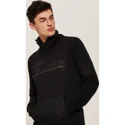 Bluza z golfem - Czarny. Czarne bluzy męskie rozpinane House, l. Za 119,99 zł.