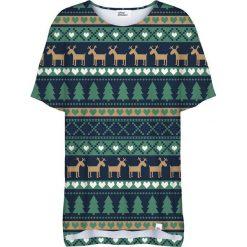 Colour Pleasure Koszulka damska CP-033 294 granatowo-zielona r. uniwersalny. Niebieskie bluzki damskie Colour pleasure, uniwersalny. Za 76,57 zł.