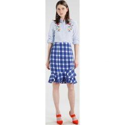 Koszule wiązane damskie: Dorothy Perkins STRIPE EMBROIDERED Koszula navy