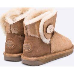 Emu Australia - Botki Denman Mini. Różowe buty zimowe damskie EMU Australia, z materiału, na obcasie. W wyprzedaży za 399,90 zł.