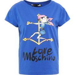 Odzież damska: Love Moschino Tshirt z nadrukiem blue