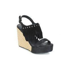 Sandały LPB Shoes  SABINE. Czarne rzymianki damskie LPB Shoes. Za 181,30 zł.