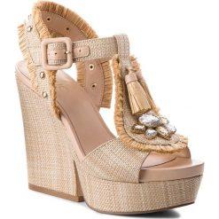 Rzymianki damskie: Sandały LIU JO – Wedge Sandal Marabu Naturale S18079 T7034 Natural 00005