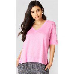 Samsoe & Samsoe T-shirt z krótkim rękawem Sania - Pink. Różowe t-shirty damskie Samsøe & Samsøe, z tkaniny. W wyprzedaży za 97,18 zł.