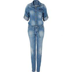 """Kombinezony damskie: Kombinezon dżinsowy bonprix niebieski """"bleached medium"""""""