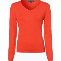 Swetry damskie: Franco Callegari – Sweter damski z dodatkiem kaszmiru, pomarańczowy