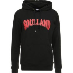 Bejsbolówki męskie: Soulland JANSON HOODIE FRONT PRINT Bluza z kapturem black