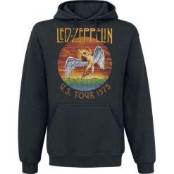 Led Zeppelin USA Tour 1975 Bluza z kapturem czarny. Czarne bluzy męskie rozpinane Led Zeppelin, s, z nadrukiem, z kapturem. Za 164,90 zł.