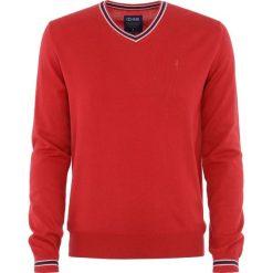 Sweter męski. Czerwone t-shirty męskie Ochnik, m, z bawełny, z klasycznym kołnierzykiem. Za 159,90 zł.