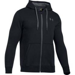 Bluzy męskie: Under Armour Bluza męska Rival Fleece Fitted Full Zip Hoodie czarna r. S (1302290-001)
