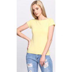 Bluzki, topy, tuniki: Żółty T-shirt Stay Near