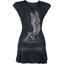 Bluzki asymetryczne: Spiral Enslaved Angel Koszulka długa damska - Longshirt czarny