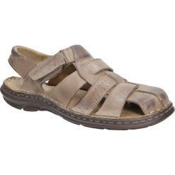 Sandały skórzane na rzep Casu 211. Szare sandały męskie Casu. Za 129,99 zł.