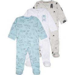 Mothercare BOYS MODERN LAYETTE SLEEPSUIT BABY 3 PACK Piżama pale blue. Niebieskie bielizna chłopięca marki Retour Jeans, z bawełny. Za 159,00 zł.