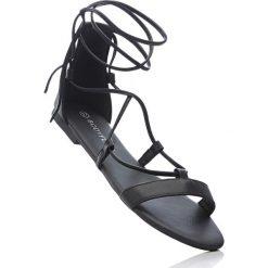 Sandały bonprix czarny. Czarne rzymianki damskie bonprix. Za 32,99 zł.
