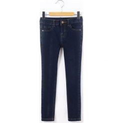 Dżinsy skinny. Czarne spodnie chłopięce La Redoute Collections, z bawełny, z standardowym stanem. Za 70,52 zł.