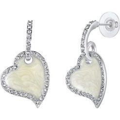 Kolczyki damskie: Kolczyki z masą perłową i krysztłkami Swarovski