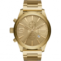 Zegarek DIESEL - Rasp Chrono 50MM DZ4446  Gold/Gold. Żółte zegarki męskie Diesel. Za 1059,00 zł.