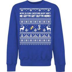 Rick And Morty Bad Christmas Bluza niebieski. Niebieskie bejsbolówki męskie Rick And Morty, xxl. Za 144,90 zł.
