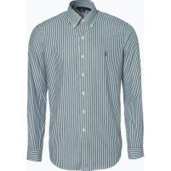 Polo Ralph Lauren - Koszula męska, zielony. Zielone koszule męskie na spinki Polo Ralph Lauren, l, z haftami, z klasycznym kołnierzykiem. Za 499,95 zł.