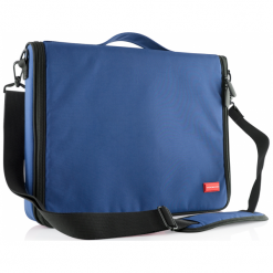 """Modecom Torino 15.6"""" niebieska. Niebieskie torby na laptopa Modecom, w paski. Za 79,90 zł."""