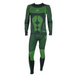 VIKING Bielizna termoaktywna męska Scully (komplet) zielono-czarna r. M (500/16/5340). Czarna odzież termoaktywna męska marki Viking, m. Za 169,90 zł.