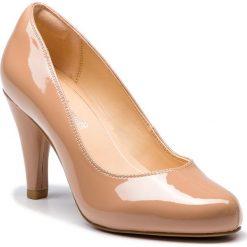 Półbuty CLARKS - Dalia Rose 261385664  Nude Patent. Brązowe creepersy damskie Clarks, z lakierowanej skóry, eleganckie, na obcasie. Za 399,00 zł.