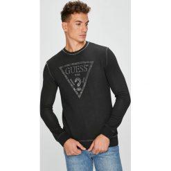 Guess Jeans - Bluza. Czarne bejsbolówki męskie Guess Jeans, l, z aplikacjami, z bawełny, bez kaptura. W wyprzedaży za 319,90 zł.