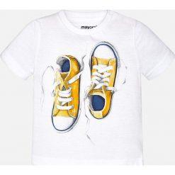 Mayoral - T-shirt dziecięcy 68-98 cm. Szare t-shirty męskie z nadrukiem Mayoral, z bawełny. Za 54,90 zł.