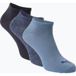 Puma - Męskie skarpety do obuwia sportowego pakowane po 3 szt., niebieski. Niebieskie skarpetki męskie marki Puma, z dżerseju. Za 39,95 zł.