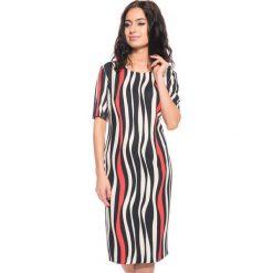 Sukienki: Sukienka w pionowe pasy BIALCON