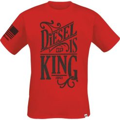 T-shirty męskie: Diesel Power Gear Diesel is King T-Shirt czerwony