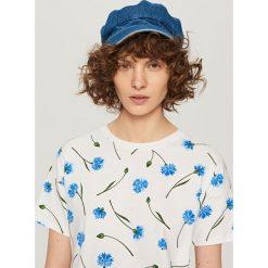 T-shirt we wzory - Kremowy. Białe t-shirty męskie marki Pakamera. Za 49,99 zł.