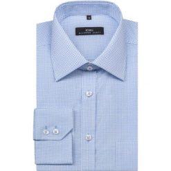 Koszula SIMONE KDNR000153. Niebieskie koszule męskie na spinki Giacomo Conti, m, z bawełny, z klasycznym kołnierzykiem, z długim rękawem. Za 199,00 zł.